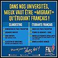 Quand l'université française privilégie les « migrants » au détriment des étudiants