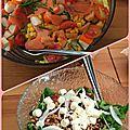 Salade d'été et salade nordique