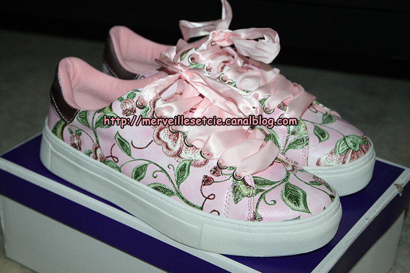 chaussures-roses