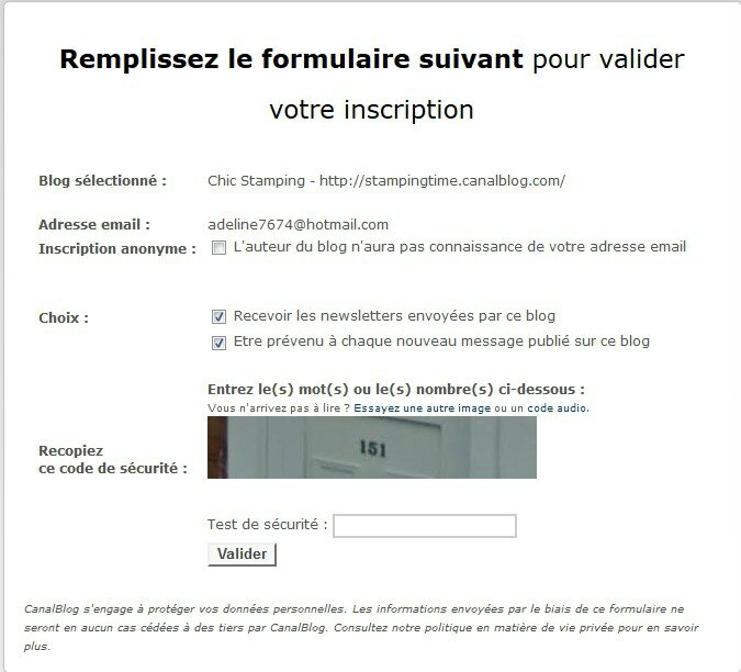 formulaire inscription newsletter 1
