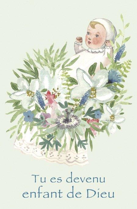 bébé fleurs baptême fili