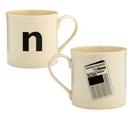 Mug N comme Newspaper