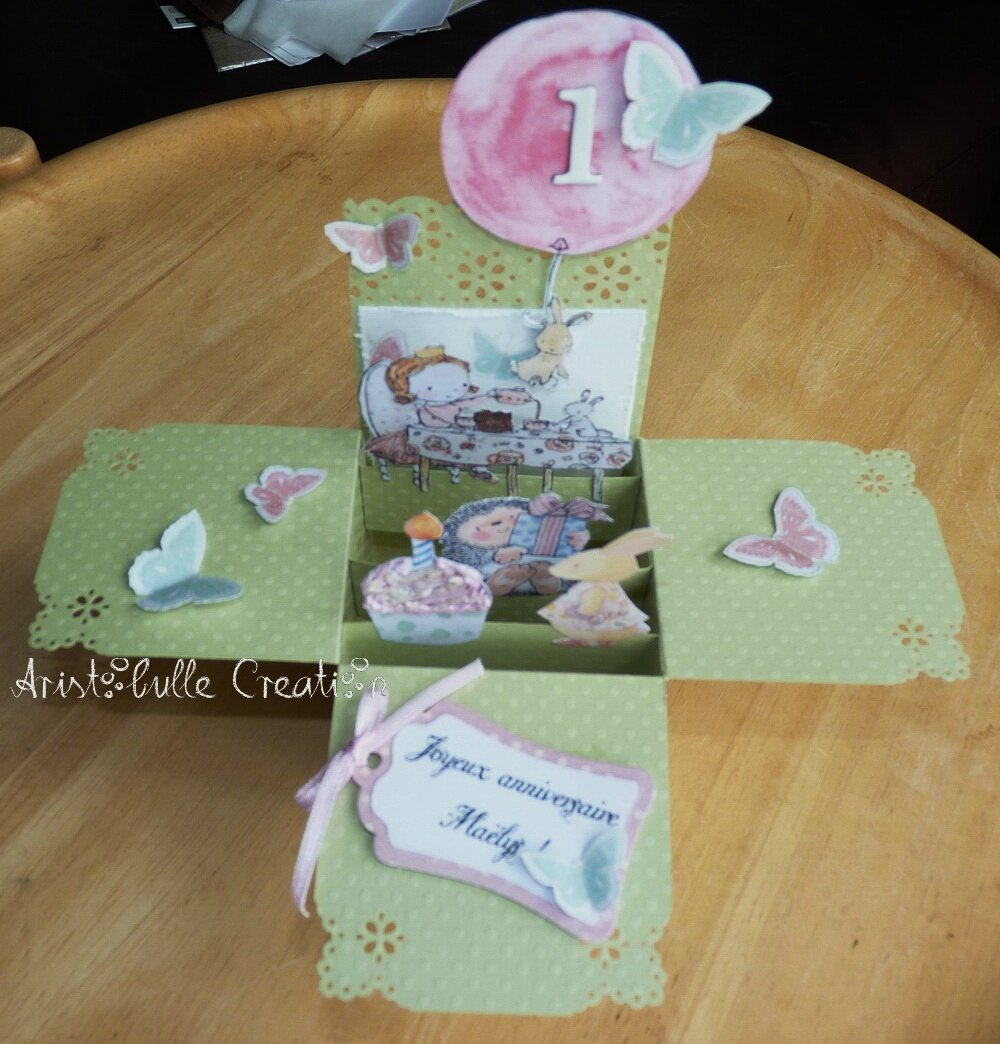 Card-in-a-box anniversaire lapin - 8 juil 15