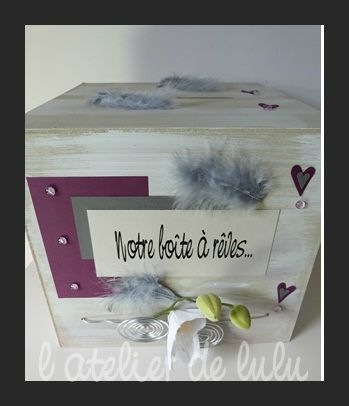 boite a dons pour mariage personnalisee