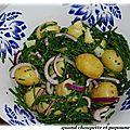Salade de pommes de terre grenaille a la salicorne