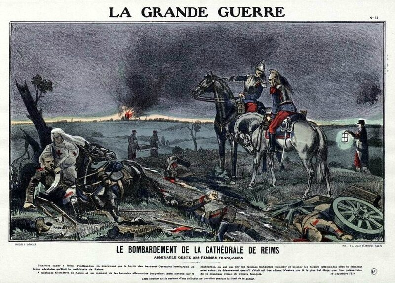 Grande guerre bombardement de cathéd de Reims