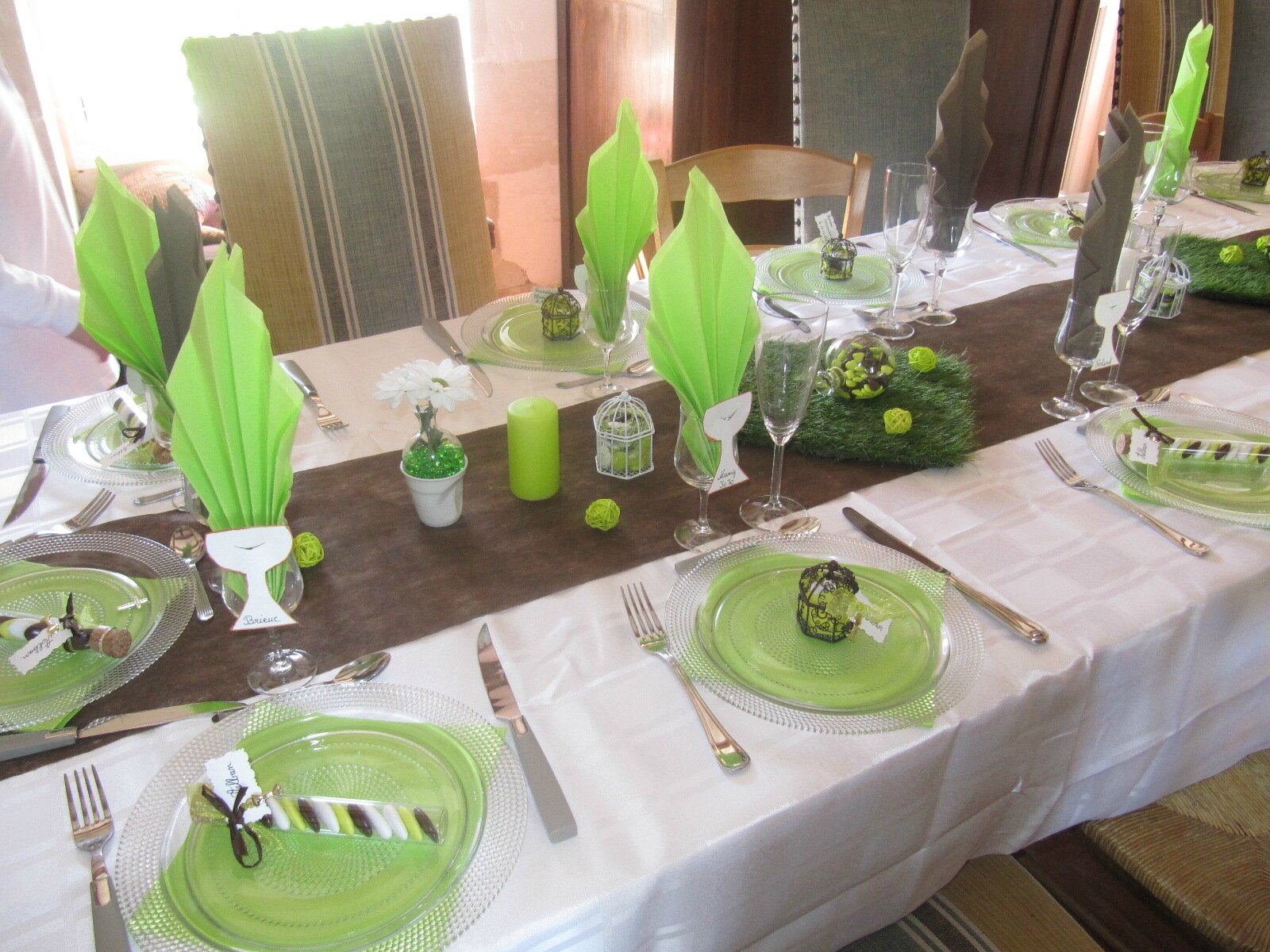 Creation de la charetiere for Decoration de table