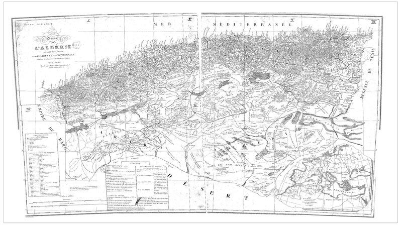 Carte des tribus d'Algérie_1846_Carte_tribus_1846