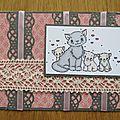 Carte chats et dentelles - 04