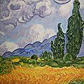 Tableaux de paysages illustrant les poésies