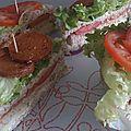 Sandwich végétalien crudités-chorizo
