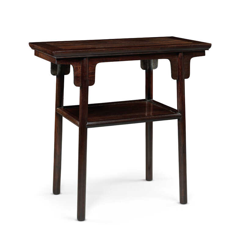 2019_HGK_16696_3043_000(a_rare_small_zitan_table_xiaopingtouan_qing_dyansty_17th-18th_century)