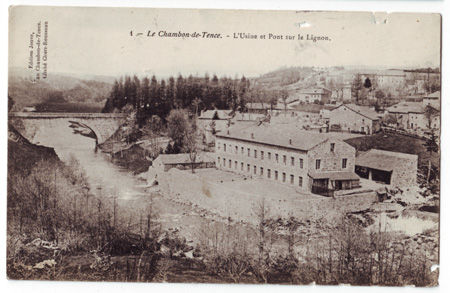 43 - CHAMBON DE TENCE - Usine et Pont sur le Lignon