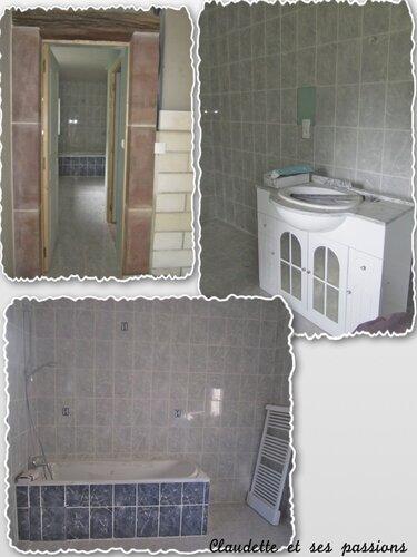Salle de bain presque terminée