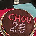 Gâteau yaourt recouvert de smarties