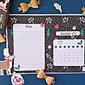 Calendriers mensuels : décembre 2017 (à imprimer - gratuit)