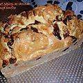 Cake madeleine aux pépites de chocolat et orange confite