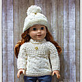 Pull et bonnet pour marianne - sweater and hat for marianne