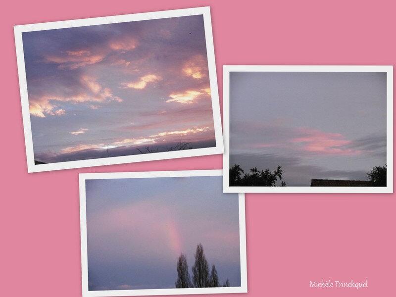 Lever de soleil et arc en ciel 021218
