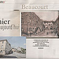 Rubrique ''d'hier à aujourd'hui'' dans le mag er : beaucourt (90)