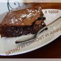 Gâteau au chocolat et amandes entières