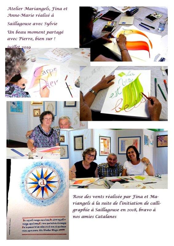 atelier gestuelle Fina, Anne-Marie et Mariangels