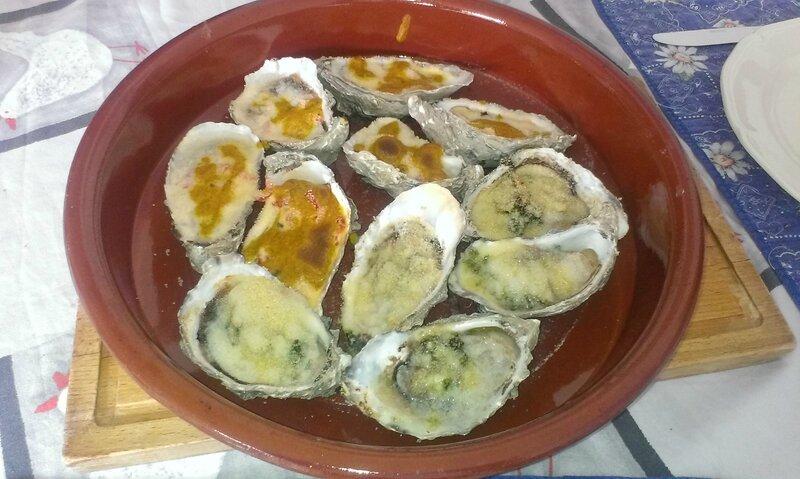 Huîtres chaudes au curry ou persillade