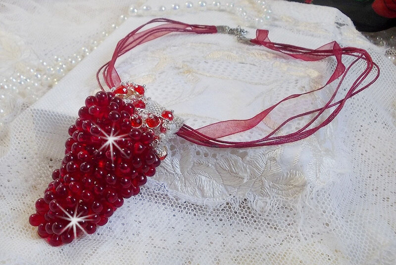Collier pendentif Tendre Rouge 7-1