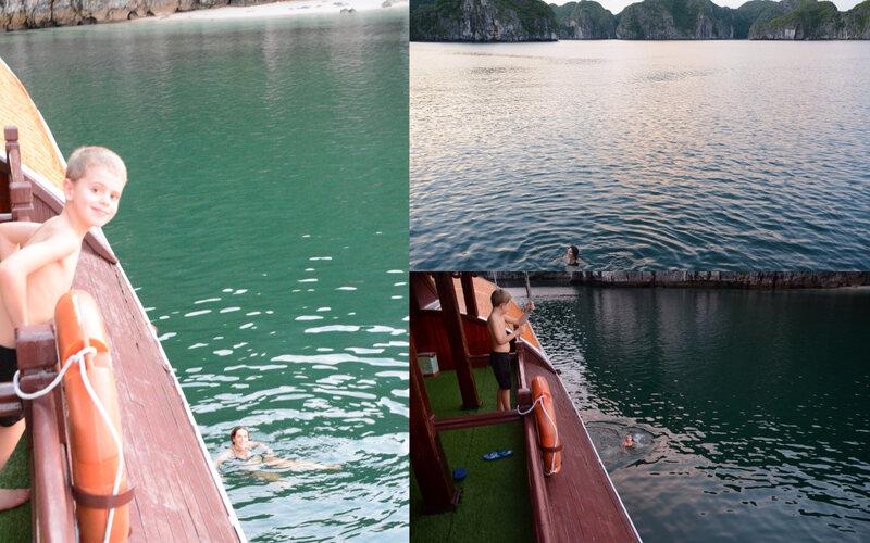 Baignade baie Halong
