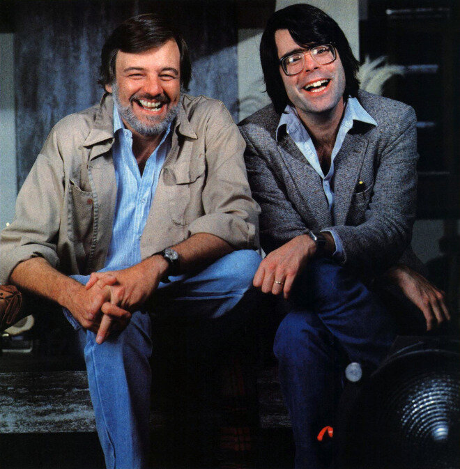 George Romero and Stephen King, photograph by Curtis Knapp for Esquire, January 1982