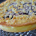 Tarte crumble-fruits rouges