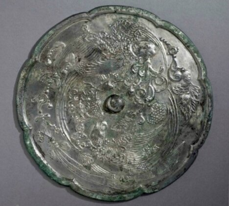 A rare large bronze octalobed mirror, China, Tang dynasty (AD 618-907)