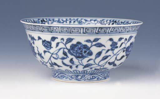 A blue and white bowl, Xuande period (1426-1435)