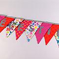 Guirlande personnalisée prénom Célestine rose fuchsia orange fleurs papillons banderole décorative chambre bébé enfant