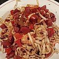 Nouilles chinoises aux saucisses