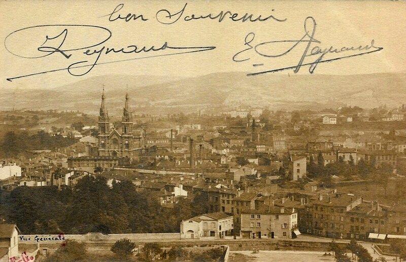 Saint-Chamond vue générale avec signatures