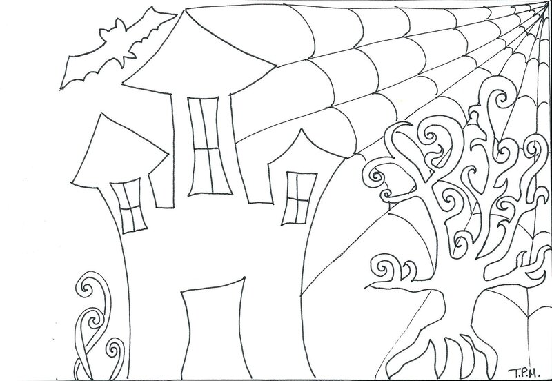Pattern Zentangle Halloween