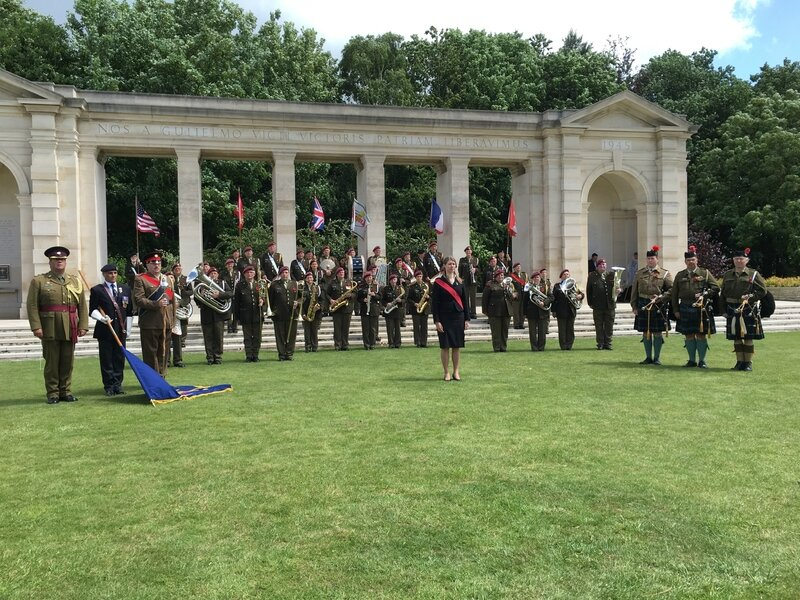 DDAY Bayeux War Cemetery 6 juin 2017 The Band of Liberation & Pipes