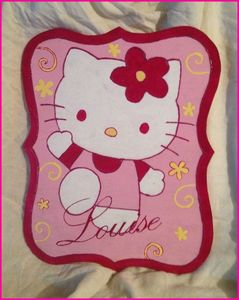plaque de porte hello kitty