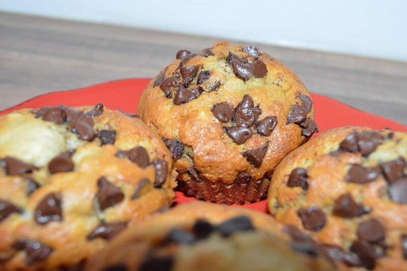 Muffins bananes pépites de chocolat (1)