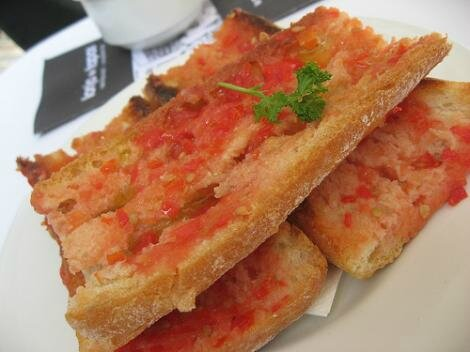 pain tomate huile d'olive