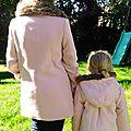 Look mère-fille : bien au chaud en rose bonbon !