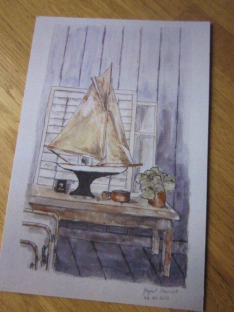 Carte postale 15X10 cm - Le voilier (2)