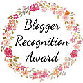 Tag #20 - blogger recognition award