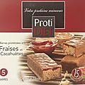 Barre fraises & cacahuètes protidiet - 9/10