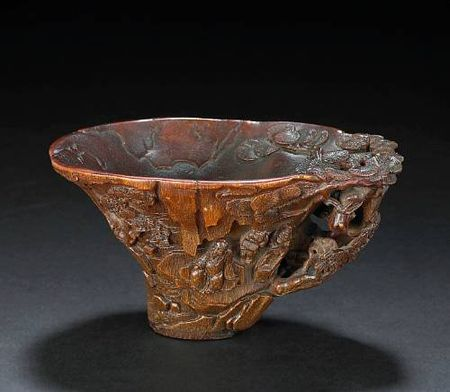 A_rhinoceros_horn_libation_cup_ming