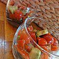 Verrine tomates avocats