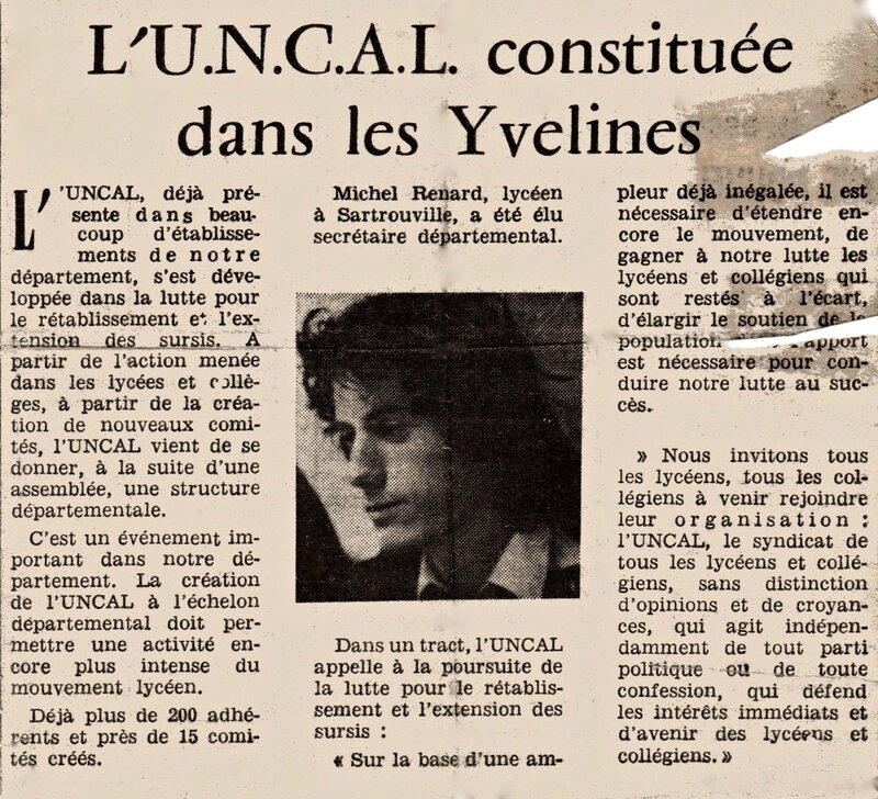 article 1973 UNCAL Yvelines