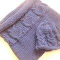 Tricot pour bébé, chaussette d'emmaillotage