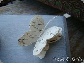 papillon sur porte-buvard